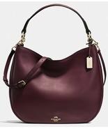 COACH 36026 Nomad Hobo in Glovetanned Leather Handbag in Oxblood - $232.64