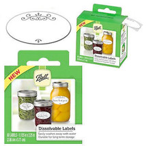 Canning Jar Labels, Dissolvable, 60-Pk. - $16.82