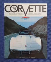 1975 Chevrolet Corvette Only Sales Brochure - Original New Old Stock - $10.00