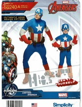 SIMPLICITY PATTERN 0240 BOYS AND  MENS AVENGERS COSTUMES SIZE 3-8 - $4.50