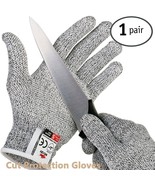 Cut Resistant Gloves Safe Cut Protection Gloves with Secure-Grip Microdo... - $24.35