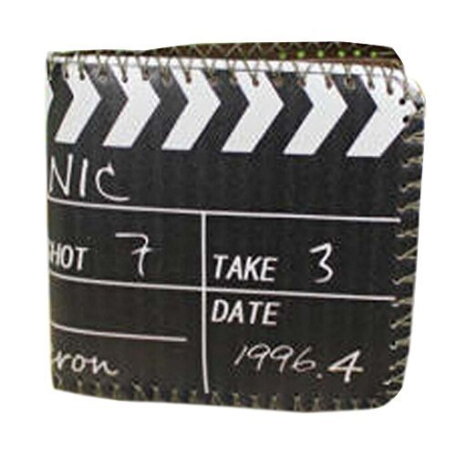 Retro Cool Clapper Board Men Wallet/Purse Short PU Leather Wallet(4.33.80.5'')