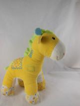 "Baby Gund Hopscotch Small 8"" Yellow w Patches Giraffe Plush Corduroy Sweet! - $6.92"