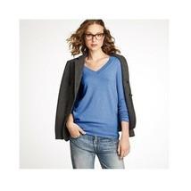 J.Crew Women's Collection Italian Cashmere Boyfriend V-Neck Sweater Size... - $18.80