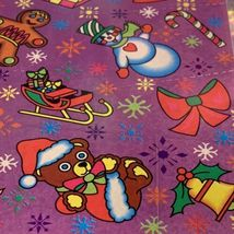 Vintage Lisa Frank Complete Sticker Sheet Christmas Holiday Theme S132 Early 90s image 3
