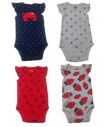 Carters Child of Mine Set of 4 NWT SS 1 Piece Bodysuit 0-3M Crab Cherrie... - $6.92