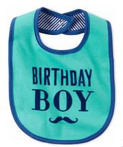 Carter's Baby Girls' My Very First Birthday Bib Mustache - $9.89