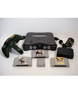 Nintendo 64 Grey Console with Games NBA Live Triple Play Baseball Madden... - $59.99