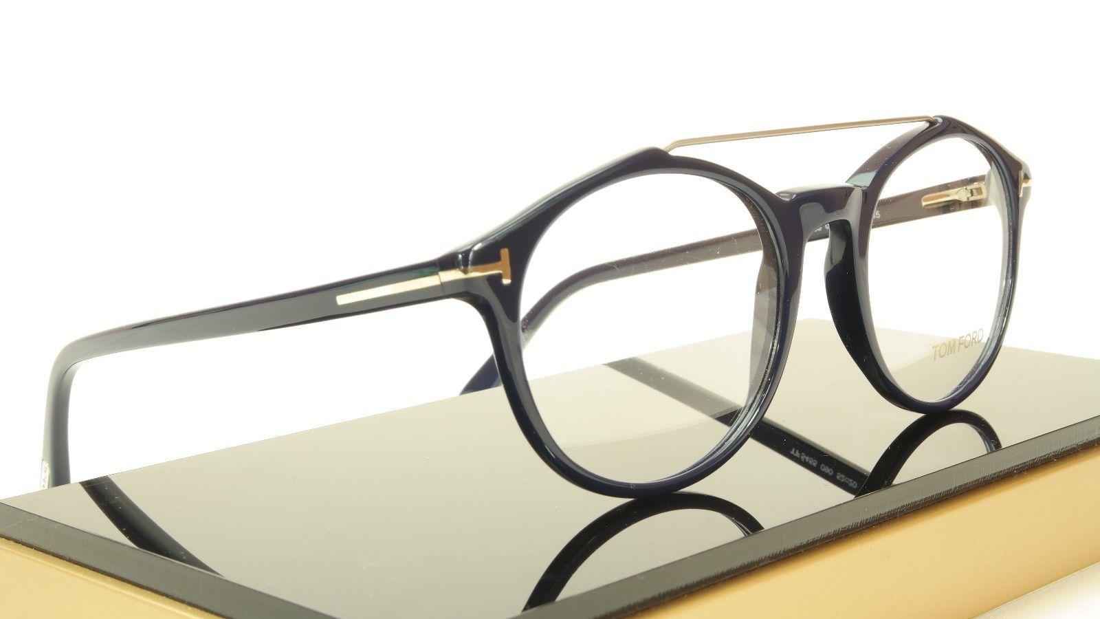 Tom Ford Authentic Eyeglasses Frame TF5455 090 Dark Navy Blue Italy 52-20-145 image 6