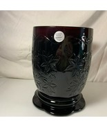 Princess House Fantasia Ruby Red Large Pillar Candle Holder Made in France - $29.69