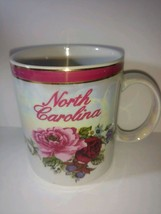 Pearlized coffee mug from North Carolina roses travel souvenir - collect... - $22.76