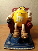 """M&M """"couch potato"""" yellow M in Lazy Boy w/TV remote candy dispenser - $12.87"""
