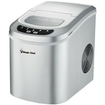 Magic Chef MCIM22SV 27-Pound Capacity Portable Ice Maker (Silver with Silver To - $197.99