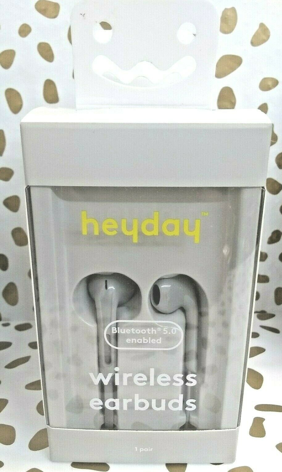 Heyday Bluetooth 5.0 Enabled Wireless Earbuds - dove grey- Sealed New --(Store)