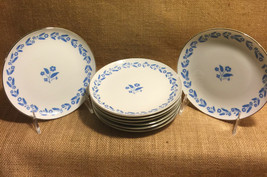 Symphony in Blue Cornflower Dessert Bread Plates Set of 8 Fine China Jap... - $29.99