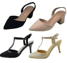 Women Stiletto Wedge Heel Court Shoes Open Toe Sandal Ladies Strap Ankle Buckle - $14.84+