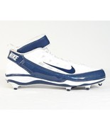 Nike Air Zoom D Superbad 3 Football Cleats Blue & White Mens NEW - $67.49