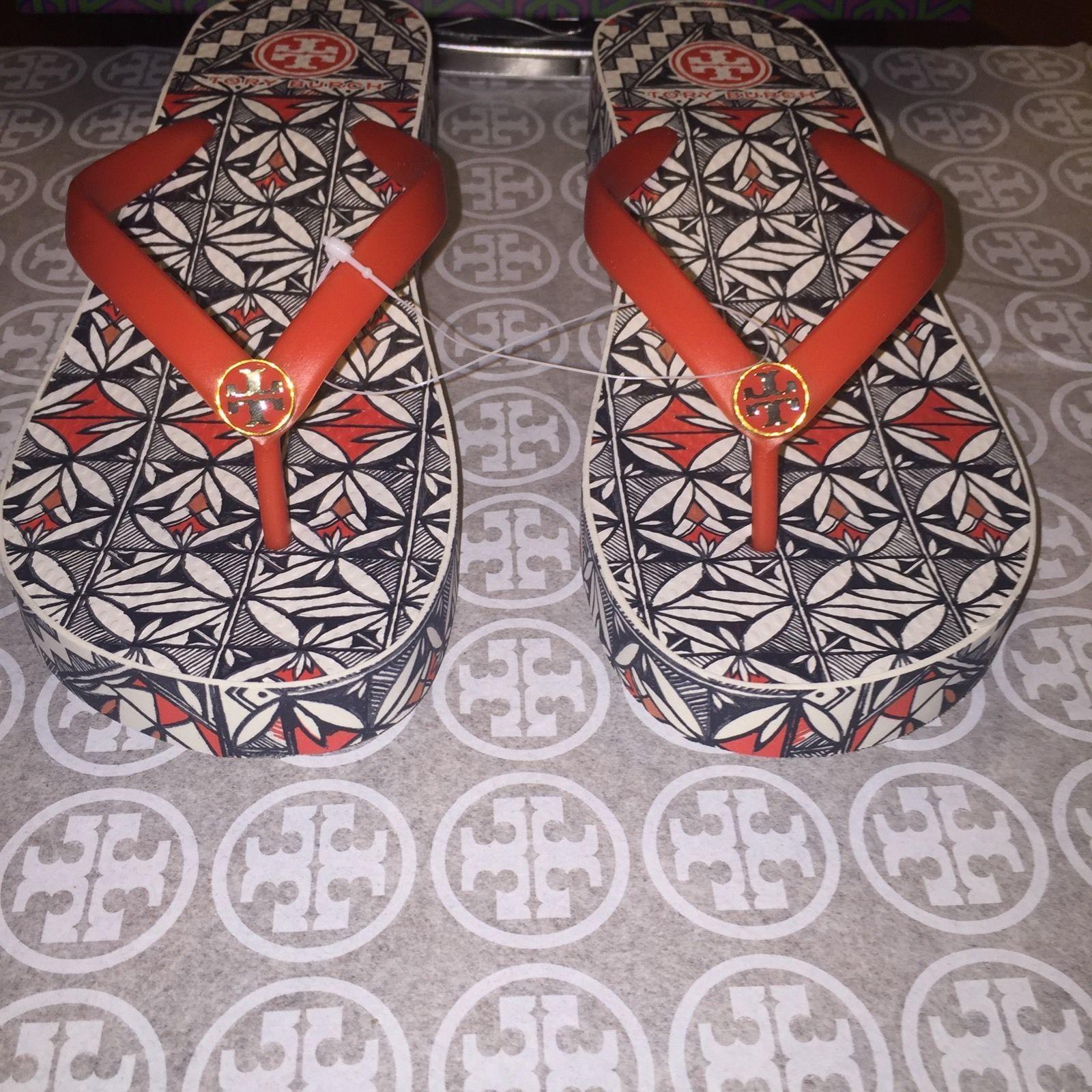 396dc9286f5691 NIB Tory Burch Thandie Wedge Flip-flops in and 50 similar items