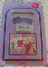 1986 Worlds of Wonder Pamela Goes Out For Dinner Voice Card & Activity Book - $22.99