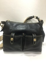 Dooney & Bourke Messenger Crossbody Bag Black Leather Florentine Vacchetta - $89.09