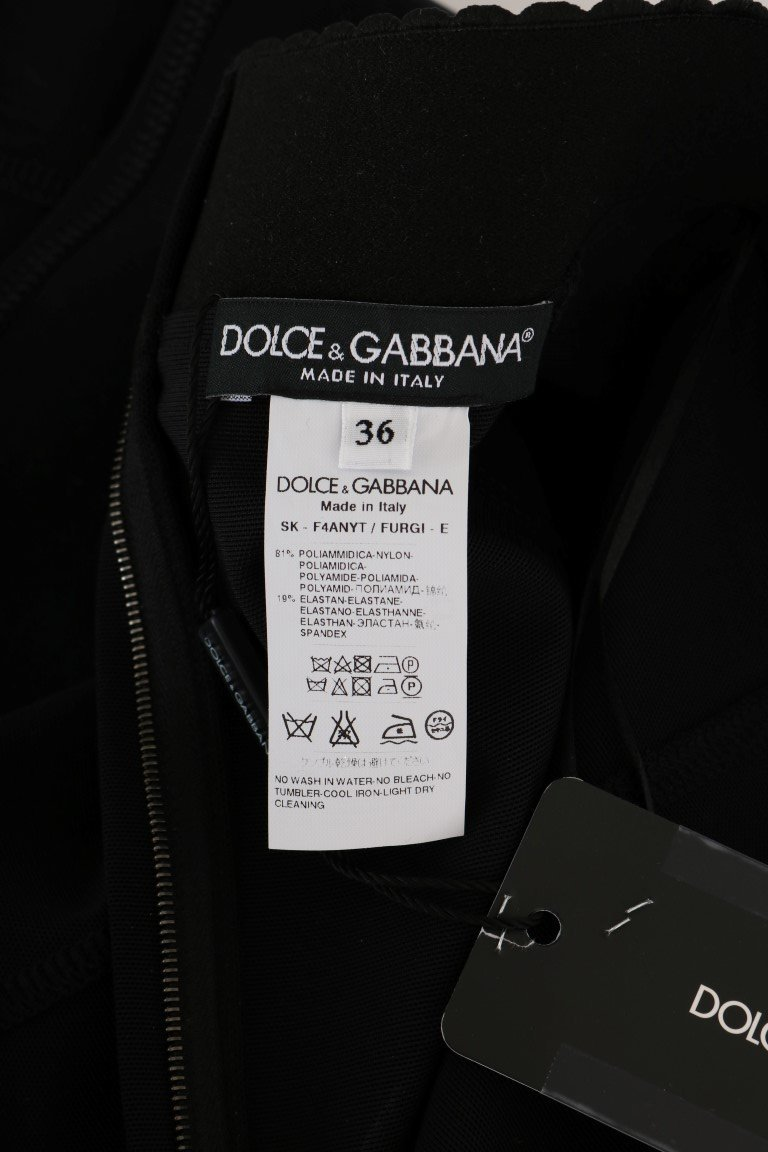 Dolce & Gabbana Black Stretch Transparent Skirt