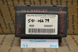 2003 Chevrolet Cavalier Body Control Module BCM 22682857 Unit 147-5G5 - $9.49