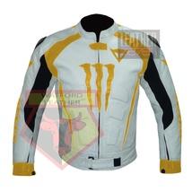 DAINESE 1011 YELLOW WATERPROOF COWHIDE LEATHER MOTORCYCLE BIKERS ARMOR J... - $289.99