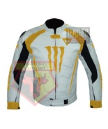 DAINESE 1011 YELLOW WATERPROOF COWHIDE LEATHER MOTORCYCLE BIKERS ARMOR JACKET - $289.99