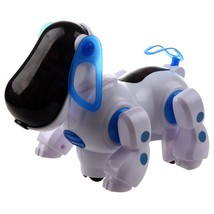 Robotic Interactive Pet Dog Walking Bump Go Puppy Kids Toy Children - $14.58