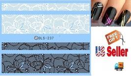 A5:Nail Art Manicure Tips Sticker w/Free 2PCS Rolls Striping Tape Line Nail Tips - $2.97