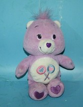"Care Bears SHARE BEAR 7"" Talks PURPLE Plush Small Soft Toy Stuffed 2004 ... - $17.39"