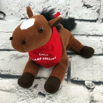 YMCA Camp Collins Horse Plush Brown Pony Red Bandanna Stuffed Animal Soft Toy - $7.91