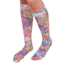Celeste Stein Compression Socks, 15-20 mmHg-Regular-Butterfly Garden - $32.48