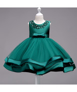 Elegent Girls Formal Dresses Green Flower girl wedding dresses  in 7 Co... - £53.45 GBP+