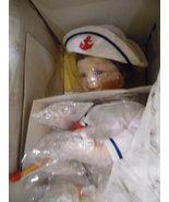 "Ashton Drake ""Justin"" NIB with Sail Boat 1991Porcelain/cloth body  - $37.16"