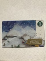 Starbucks Gift Card - NEW - SNOW CAPPED MOUNTAINS WITH TRAIN 2016 SANTA'... - $1.99