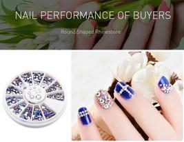 AriesLibra AB Round Nail Art Rhinestone  Nail Decoration Accessories Nai... - $5.89