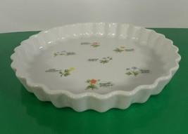 Anchor Hocking FLORET Quiche Baking Dish Pan Ovenware Floral Pattern - $29.65