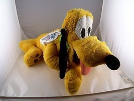 "Pluto Plush 14"" Plus 9"" tail Mint condition with Tags Disneyland Resorts - $14.84"