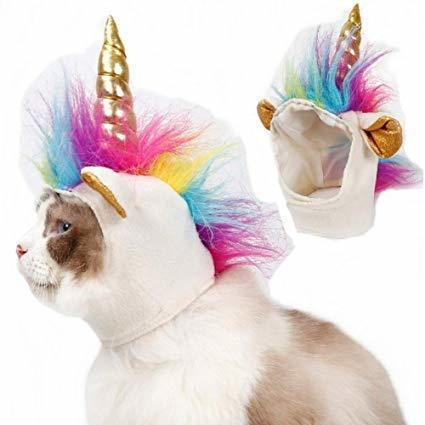 Stock Show Cat Unicorn Hat Unicorn Costume for Small Dog Cat Puppy Novel Funny A
