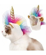 Stock Show Cat Unicorn Hat Unicorn Costume for Small Dog Cat Puppy Novel... - ₹710.09 INR