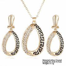 Women Designer Fashion Crystal Jewelry Set image 7
