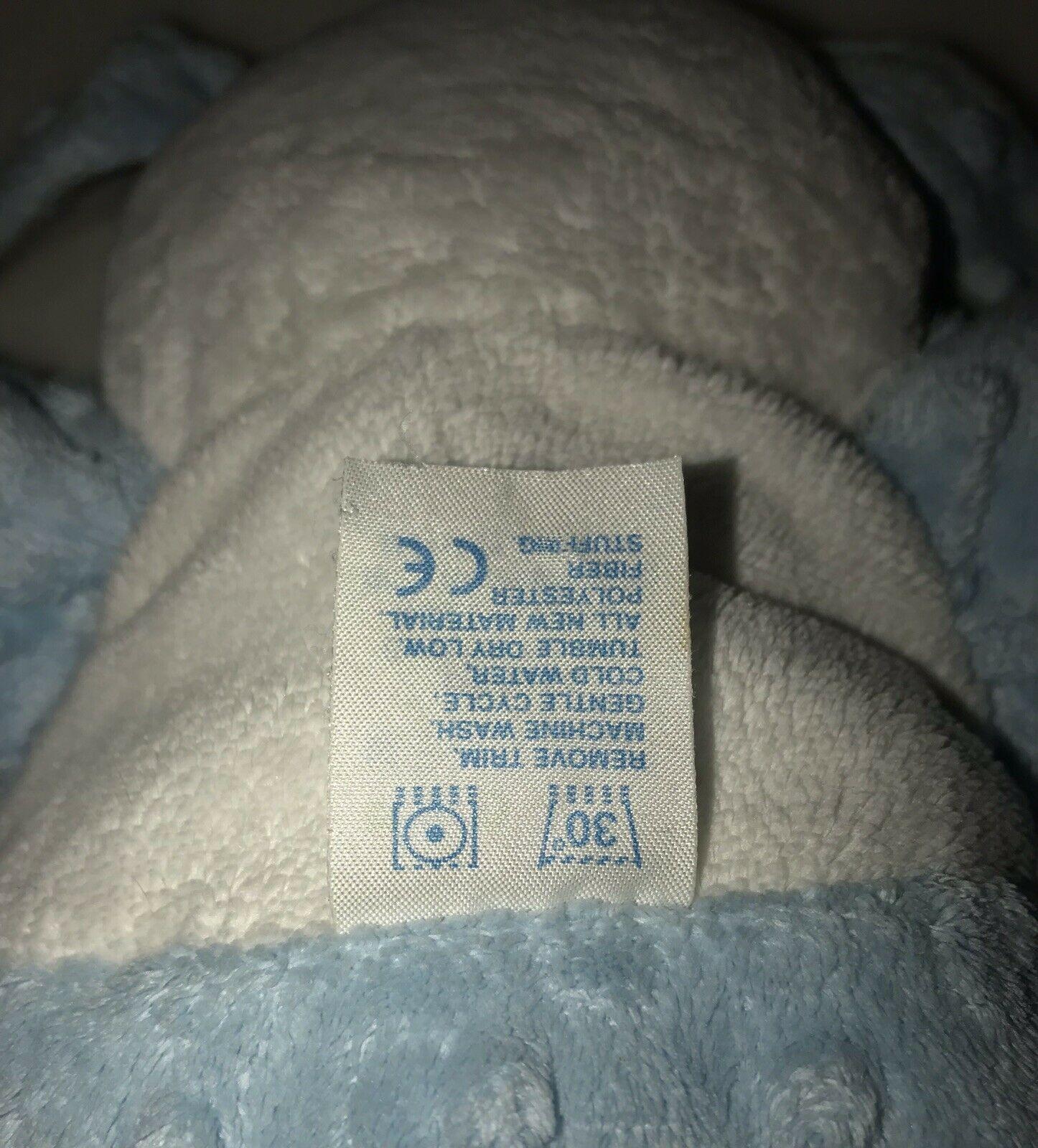 Kids Preferred Blue White So Cute Puppy Dog Minky Dot Plush Stuffed Baby Toy HTF image 3