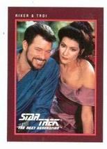 Star Trek The Next Generation card #272 Jonthan Frakes William Riker and Marina  - $4.00