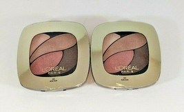 L'Oreal Colour Riche Eyeshadow Quad #300 Rose Nude Lot Of 2 Sealed New - $13.85