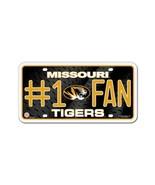 NCAA Missouri Tigers #1 Fan Metal Auto Tag - $4.98