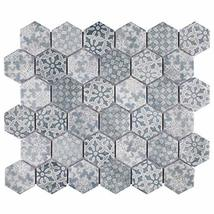 """SomerTile FTC2MDBL Medley Hex Porcelain Mosaic Floor and Wall, 11.125"""" x 12.625"""" image 7"""