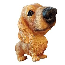 [Dachshund] Cute Bobbleheads Car Ornaments Resin Car Decoration,4.7x2.3''
