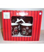 """North Crest Home Holiday Collection 3 piece Gingerbread """"HOT COCOA SET"""" NIB - $2.96"""