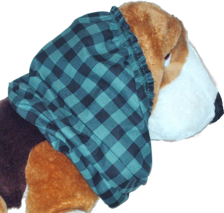 Primary image for Teal Green Black Buffalo Plaid Cotton Dog Snood by Howlin Hounds Size Large